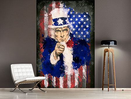 Wandbespannung Uncle Sam